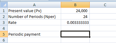 Present Value calculation