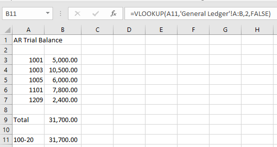 vlookup as control 1